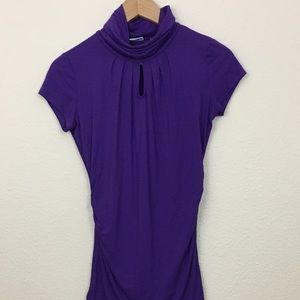 NWT New York & Company Purple Turtleneck T-shirt